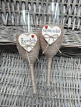 Nádoby - Svadobné poháre Nevesta a Ženích - 7140830_