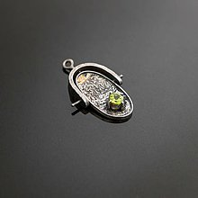 Náhrdelníky - Prívesok s olivínom - 7137591_