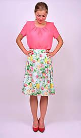 Sukne - Kvetinová sukňa - 7137252_