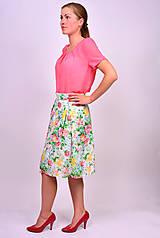 Sukne - Kvetinová sukňa - 7137254_