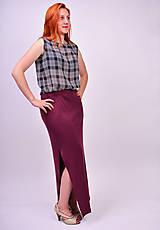 Sukne - Úpletová maxi sukňa - 7137330_