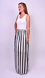 Sukne - Čiernobiela sukňa - 7137336_