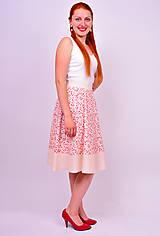 Sukne - Kvetinková sukňa - 7137339_