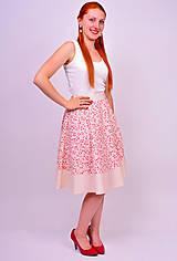 Sukne - Kvetinková sukňa - 7137340_