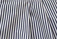 Sukne - Sukňa modré prúžky - 7139306_