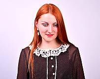 Šaty - Bodkované vintage šaty - 7139464_