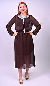 Šaty - Bodkované vintage šaty - 7139465_