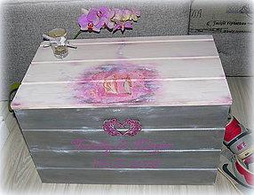 Nábytok - Velká svadobná truhlica :) - 7137445_