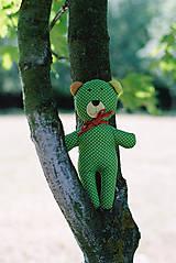 Hračky - Medvedík Kucinko zelený - 7137544_