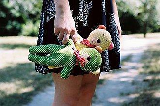 Hračky - Medvedík Kucinko zelený - 7137542_