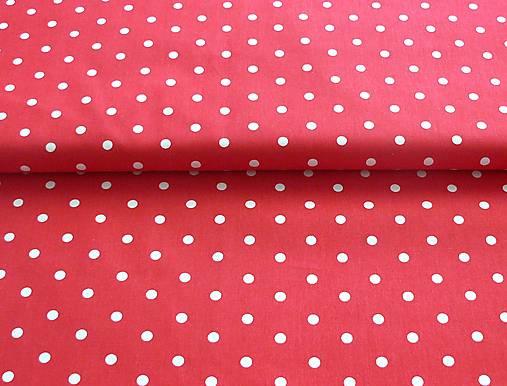 e5c19296c Látka červená bodkovaná 7 mm / LEANS - SAShE.sk - Handmade Textil