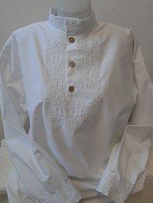 Oblečenie - Pánska svadobná košeľa Ján .... - 7139254_
