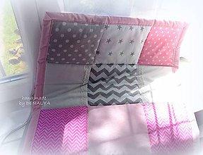Textil - Prehoz do postieľky 120x60cm kolekcia LOVE - 7143787_