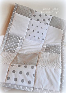 Textil - Prehoz do postieľky 120x60cm kolekcia Nebesá - 7143794_