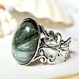 - Romantic Seraphinite / Prsteň so serafinitom - 7143384_