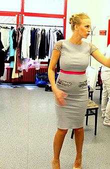 Šaty - Barbora Balúchová pre GK-design v Neskoro večer - 7141270_