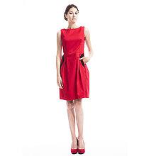 Šaty - Bavlnené šaty s čipkou (červené) - 7142516_