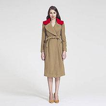 Kabáty - f/w 2016 - Vlněný kabát s kontrastním límcem - 7142929_