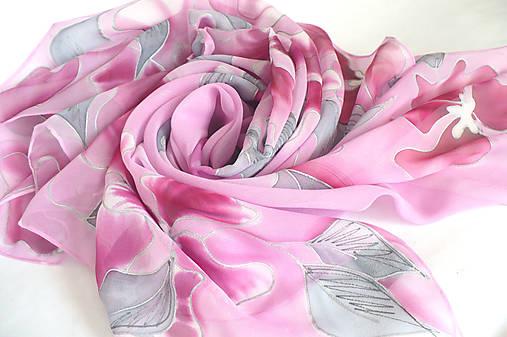 efca923ecb4 Růžový šátek z hedvábného žoržetu.   jena.silk - SAShE.sk - Handmade ...
