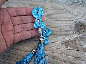 Náušnice - Long...soutache (Turquoise) - 7141347_