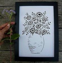 Obrazy - Kytica drobných kvetov... - 7141990_