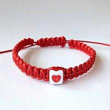 Červený pletený náramok s menom nápisom   uPaStellky - SAShE.sk ... 41091ff7368