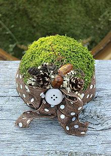 Prstene - poduška na lesnú svadbu - 7143614_