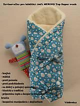 Textil - Zavinovačka pre bábätka/ miminká 100%  Merino Top - 7141390_