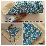 Textil - Zavinovačka pre bábätka/ miminká 100%  Merino Top - 7141489_