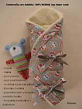 Textil - Zavinovačka pre bábätka/ miminká 100% Merino Top - 7141491_