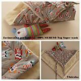Textil - Zavinovačka pre bábätka/ miminká 100% Merino Top - 7141507_