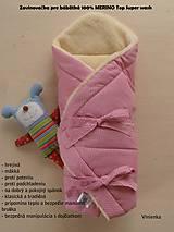 Textil - Zavinovačka pre bábätka 100% Merino Top - 7141538_