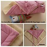 Textil - Zavinovačka pre bábätka 100% Merino Top - 7141675_