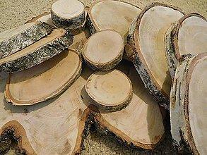 Pomôcky - vintage svadba/podložky z drevených plátov 4 (breza) - 7142676_