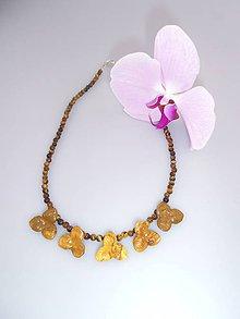 Náhrdelníky - jaspisové kvety a tigrie oko náhrdelník - 7142814_