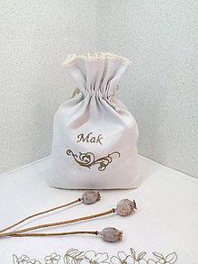 Úžitkový textil - Ľanové vrecko na mak - 7142124_