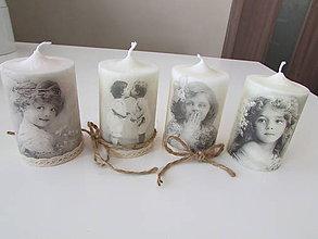 Svietidlá a sviečky - Vintage sviečky - 7142098_