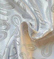 Textil - Brokát Kašmír - strieborný - 7142374_