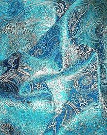 Textil - Brokát Havana - tyrkysový - 7142560_
