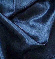 Textil - Satén pevný - tmavomodrý SK107 - 7142790_