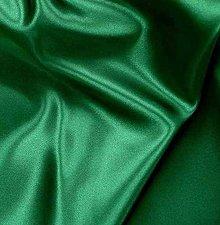 Textil - Satén pevný - tmavo zelený SK37 - 7142797_