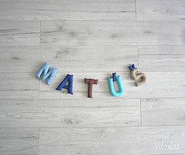 Detské doplnky - Písmenká pre...MATÚŠ - 7143550_