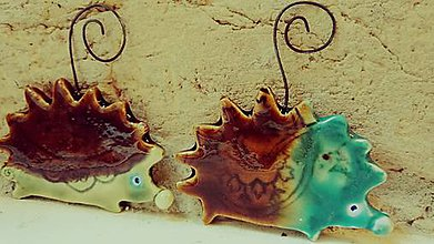 Dekorácie - ozdoba ježko zelený - 7141674_