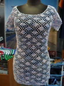 Topy - Ružovo-modrý nežný top - 7143077_