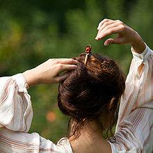 Ozdoby do vlasov - S jabĺčkom vo vlasoch - ihlica do vlasov - 7145840_