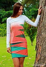 - Dámske tričko batikované, maľované, etno VLASY BERENIKY  - 7144563_