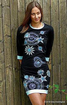 Šaty - Dámske šaty mini, batikované, maľované, etno KŇAŽKA Z AVALONU - 7144314_