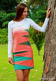 Tričká - Dámske tričko batikované, maľované, etno VLASY BERENIKY - 7144563_