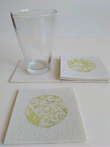Úžitkový textil - Pod pohár... - 7144323_