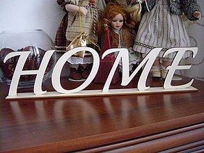 Polotovary - Drevený nápis HOME, LOVE + stojan  - 7146534_